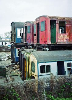 Scrap Colored Trains #Photo #Photography