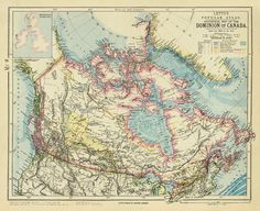 Old map of Canada
