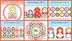 Running With Glitter: Babalisme-Free Matryoshka Doll Party Printable