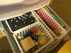 17 {more} classroom things worth purchasing from the dollar tree - KindergartenWorks - drawer organizers
