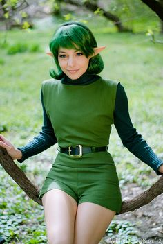 Akuriko as Saria from Legend of Zelda Ocarina of Time, AnimeCentral 2012