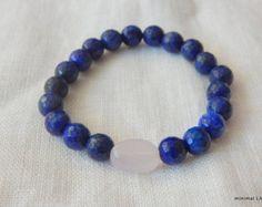 bracelet perles gemstone  Bracelet perles naturelles gemstones  BRACELET : - bracelet monté sur élastique extensible - taille : vous pouvez préciser