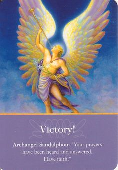 Got Angel?                                                       : Archangel Oracle Card for 1-16-16 Victory