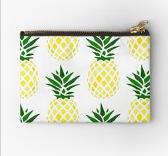 Redbubble pinapple makeup bag, super awesome! Makeup Bags, Zip Around Wallet, Finding Yourself, Coin Purse, Unique, Awesome, Creative, Design, Sewing Makeup Bag