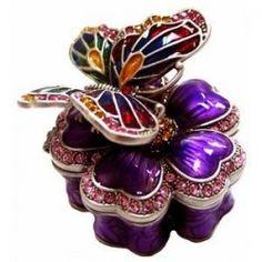 Purple trinket box