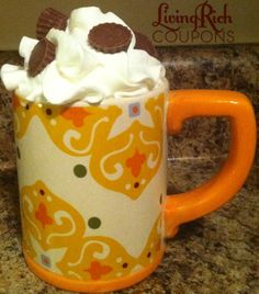 Peanut Butter Hot Chocolate Recipe - It's like drinking a Reese's Peanut Butter Cup! YUM!    Would be good Christmas morning!!