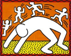 insinuatory:  I did some Keith Haring transparency edits for my AP art history project