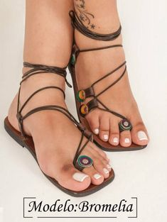 Bromelia Hand-crafted Leather Sandals from the edge of the Sandals Outfit, Cute Sandals, Fashion Sandals, Cute Shoes, Me Too Shoes, Shoes Sandals, Bare Foot Sandals, Gladiator Sandals, Leather Sandals