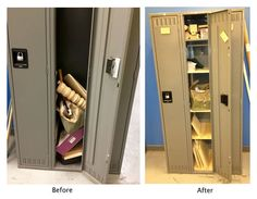 Best use of shelf standards ever Picture of How to Make Your Locker Hold More Stuff
