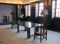 Dining Room - House For An Art Lover, Renee Mackintosh