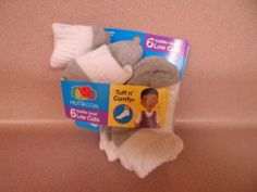 BOYS 18-36 MONTHS SOCKS.LOW CUTS. 5 PAIR IN PACKAGE. NEW.