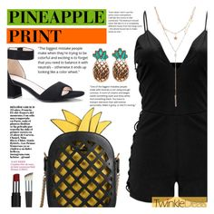 """Pineapple Print"" by tasnime-ben ❤ liked on Polyvore"