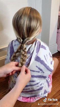 Easy Cute Girls Hairstyles, Baby Girl Hairstyles, Kids Braided Hairstyles, Easy Hairstyles For Long Hair, Braids For Short Hair, Hairstyle Short, School Hairstyles, Prom Hairstyles, Natural Hairstyles