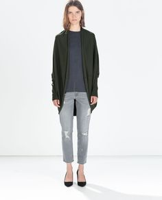 OVERSIZED JACKET WITH RIBBED CUFFS from Zara