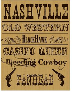 Fun Western Fonts and designs.