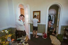 getting ready groom and groomsmen in Clovis Castle. Maike + Neil - Destination Wedding in California USA - Wedding photographer and…
