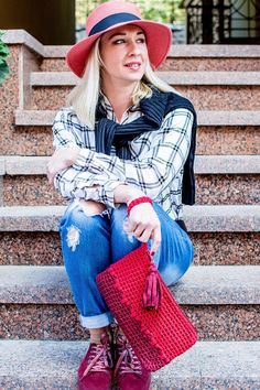 Crocheted handmade clutch made from ribbon cotton yarn with zipper. Comfortable and practical handbag for every day and for a special occasion. The ideal size for your personal belongings, phone, keys, purse. Can be used to store cosmetics. You can choose colors that suit you from