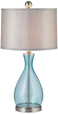 Uttermost Reena Blue Glass Table Lamp Style F1471