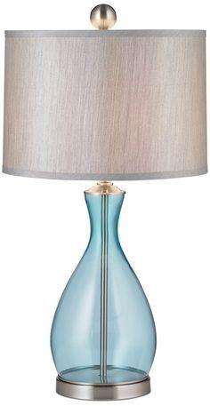 Uttermost Reena Blue Glass Table Lamp -