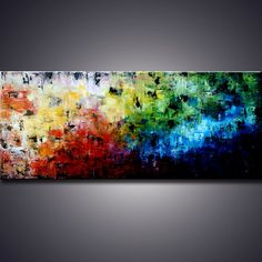 "72"" Original Large abstract art,  Modern Abstract Palette Knife Modern Art Painting - MADE-TO-ORDER. Ada"
