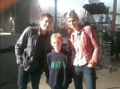 Logan-Lerman-and-Alexandra-Daddario-with-a-fan (Wish that fan was me[ :'( ])