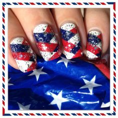 NailsLikeLace: Is it too early to start 4th of July manicures?!