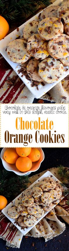 Chocolate Orange Cookies - Some flavour combinations work very well together and chocolate and orange is no exception! Chocolate Orange Cookies are light and airy and bursting with bright citrus flavour! Lord Byron, Cookie Recipes, Dessert Recipes, Bar Recipes, Recipes Dinner, Potato Recipes, Soup Recipes, Breakfast Recipes, Chicken Recipes