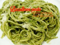 Basil Pesto Zucchini Noodles - Powered by I would add grilled shrimp, broccoli, artichokes, cherry tomatoes or red bell pepper Salsa Verde, Pesto Zucchini Noodles, Pesto Pasta, Sauce Pesto, My Favorite Food, Favorite Recipes, Basil Pesto Recipes, Spaghetti, Cooking