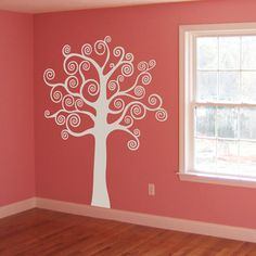What if I put family photos in the branches of the tree on my library wall?  Hmm...