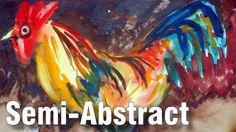Online Art Class - Art of Semi-Abstract Painting - Paint Basket TV Art Lessons Online, Online Art Classes, Basket Tv, Gouache Tutorial, Painted Baskets, Online Painting, Watercolour Painting, Abstract Art, Painting Tutorials
