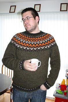 Ravelry: Project Gallery for Riddari pattern by Védís Jónsdóttir Icelandic Sweaters, Wool Sweaters, Non Iron Shirts, Men's Shirts, Summer Pants, Fair Isle Knitting, Grey Sweater, Workout Shirts, Chambray
