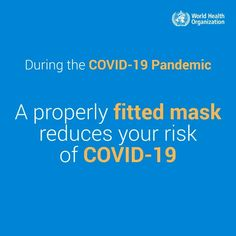 Wear a mask to stop #COVID19 from spreading: 1) Clean your hands before putting it on, when you touch it & after taking it off; 2) Use, store, clean/dispose of it appropriately. To stay safe, 𝐝𝐨 𝐢𝐭 𝐚𝐥𝐥: Physical distance/Open windows/Hand hygiene/Avoid crowds/Cover your mouth and nose when sneezing/coughing International Health, Hand Hygiene, World Health Organization, Golden Rule, Fb Page, How To Protect Yourself, Health Advice, Public Health, Stress