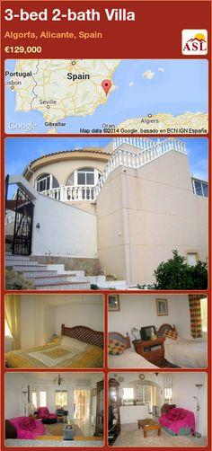 3-bed 2-bath Villa in Algorfa, Alicante, Spain ►€129,000 #PropertyForSaleInSpain