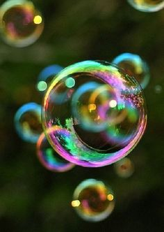 Ephemeral: lasting a short time. A bubble provides as an example because you blow a bubble, admire it for a short amount of seconds, and it suddenly pops.