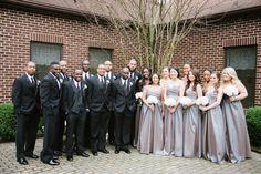 Bridesmaids and groomsmen photo!! Stunning!! Veronica & Doyin's Annapolis Loews Hotel wedding by Charlotte Jarrett Events