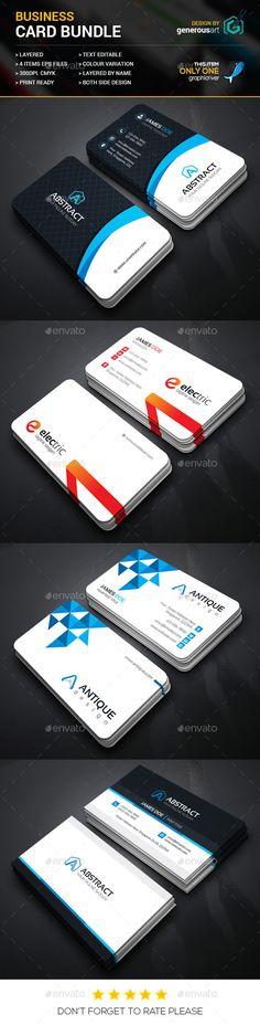 Business Card Bundle 2 in 1 Templates #design Download: http://graphicriver.net/item/business-card-bundle-2-in-1_29/13083132?ref=ksioks