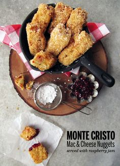 Monte Cristo Mac & Cheese Nuggets // take a megabe