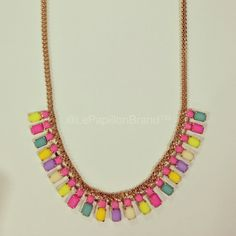 Sunny Side Necklace - PhP 980 Color: Pink In Stock: 1 pc.  To place an order, please text/iMessage/Viber/WhatsApp/WeChat 0999-8894770 or fill out an order form at http://facebook.com/LePapillonAccessories.
