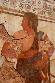 Ancient EtruscanFresco with an Athletic Trainer, 510 BC,Getty Villa Collection.