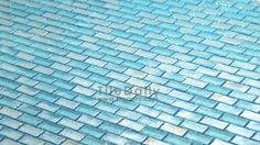 GM0090 - Turquoise Iridescent Brick Glass Mosaic