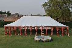 The stylish Indian tent provided by us is designed in standard shades, styles.