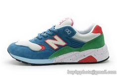 Men And Women New Balance 580 Running Smurfs Suede A |only US$68.00 - follow me to pick up couopons.