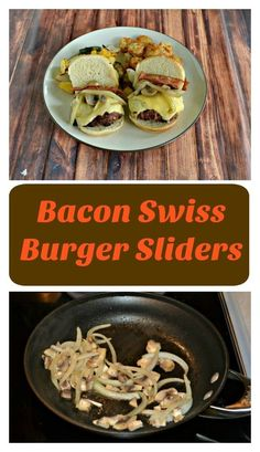 Bacon Swiss Burger Sliders are an easy and delicious Game Day appetizer or weeknight meal!#beef #burgers #bacon | Beef Recipes | Burger Recipes | Bacon Recipes | Easy Recipes Easy Bacon Recipes, Best Beef Recipes, Supper Recipes, Delicious Recipes, Pork Burgers, Gourmet Burgers, Blt Bites, Buffalo Chicken Pasta Salad, Philly Cheese Steak Sliders