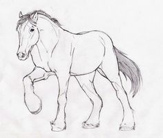 clydesdale horse outline - Google Search