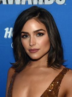 Olivia Culpo Mid-Length Bob - Olivia Culpo framed her gorgeous face with a classic lob for the 2016 NHL Awards.