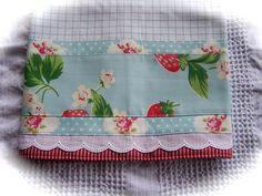 Strawberries on a tea towel. Adorable!