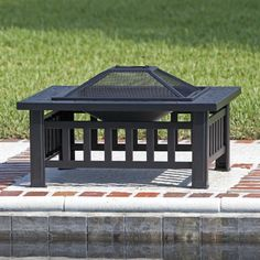 Fire Sense Stonemont Steel Wood Burning Fire Pit