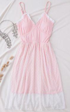 b05e80803f Pink Padded Layered Mesh Babydoll