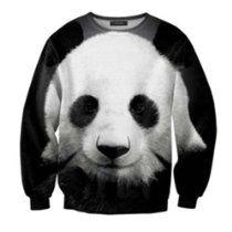 ZLYC Panda/Tiger/Cat/Panther Animal Print Casual Sweatshirt