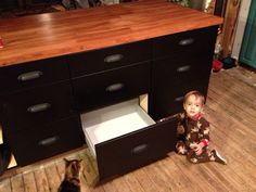 Maple counter top and island cabinets